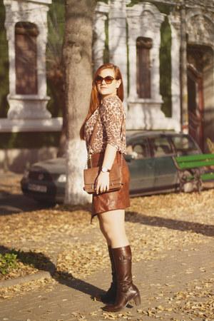 brown animal print New Yorker top - dark brown Orsay bag
