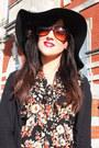 Black-primark-boots-black-topshop-hat-brick-red-accessorize-bag