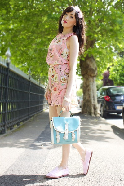 pink Love Clothing dress - sky blue blue cute bag OASAP bag