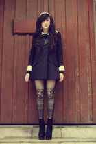 black Topshop coat