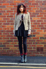 Black-new-look-boots-light-brown-vintage-blazer