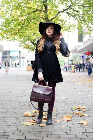 black Topshop dress