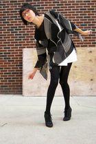 black top - white skirt - black We Love Colors tights - black Kelsi Dagger shoes