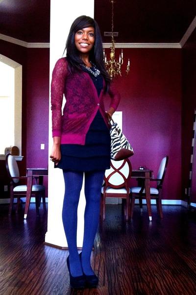 b5e6c294ef silver JCpenney accessories - purple Target cardigan - black Target dress -  gray