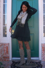 Heather-gray-suede-bakers-boots-black-ross-dress-for-less-dress-black-foreve