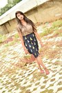 Army-green-forever-21-top-navy-self-made-skirt-crimson-forever-21-heels