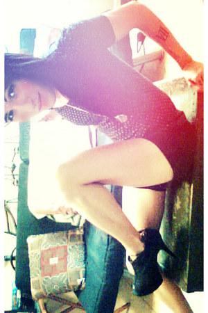 black Body Central shorts - black polka dot speechless top