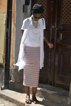 ruby red asos skirt - white H&M shirt - white Zara shirt