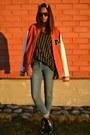 Blue-gina-tricot-jeans-tawny-varsity-jack-jones-jacket