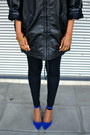 Monki-jacket-electric-blue-bikbok-heels