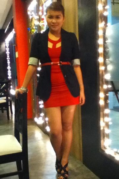 SM department belt - dress - Zara blazer - People are People heels