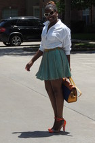 aquamarine virgos lounge skirt - white Zara shirt - light orange Hermes purse