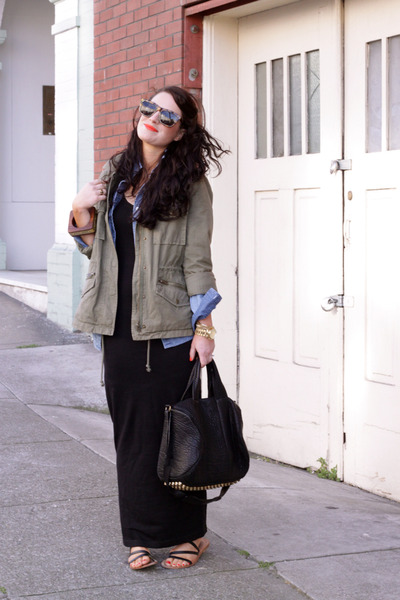 Theory dress - Jcrew jacket - Jcrew shirt - Alexander Wang purse - Karen Walker