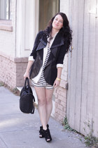 Alice and Olivia jacket - Alexander Wang bag - vintage blouse - Jcrew romper - F