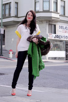 sold design lab jeans - Juicy Couture jacket - banana republic bag - Zara heels