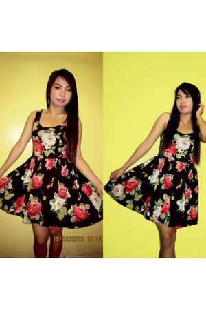 floral dress Armani Exchange dress
