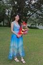 Blue-裙衣阁-dress-white-sembonia-sandals