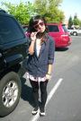 Blue-f21-blazer-white-f21-skirt-black-tights-white-f21-top-black-f21-sh