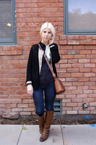 Blowfish Shoes boots - Levis jeans - JCPenney shirt - Vintage Caoch bag