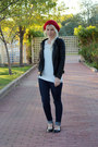 Blue-levis-jeans-red-jcpenney-hat-black-jcpenney-jacket