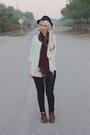 black Levis jeans - dark brown Blowfish boots - black Urban Outfitters hat