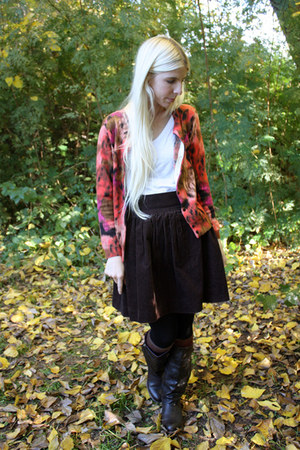 dark brown The Velvet Bird skirt - dark brown Blowfish Shoes boots