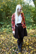 dark brown The Velvet Bird skirt - dark brown Blowfish Shoes boots