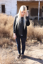 dark brown Sperrys shoes - navy Levis jeans - dark gray banana republic shirt -
