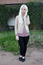 puce JCPenney blouse - black Minnetonka shoes - black Levis jeans