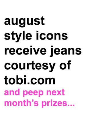 Tobi sponsors August Style Icons