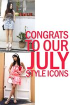 Congrats to our July Style Icons!