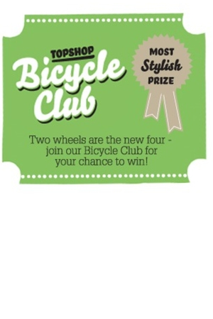 Topshop Bicycle Club Contest