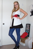Express vest - Esprit t-shirt - H&M skirt - Express belt - tights - Burlington c