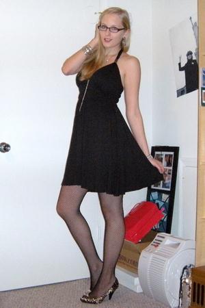 Express dress - stockings - DSW shoes - H&M necklace - Forever 21 bracelet
