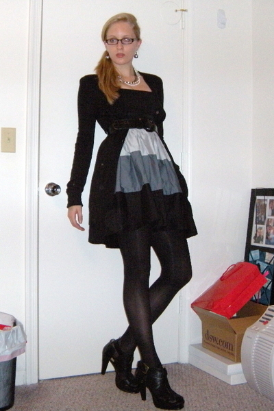 love ady dress - Target sweater - Target belt - Express necklace - Claires earri