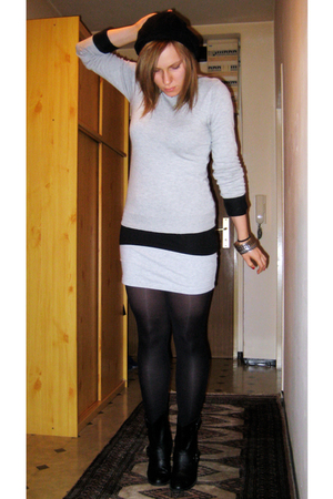 dont know sweater - H&amp;M top - H&amp;M skirt - Zara boots - Primark hat - River Islan