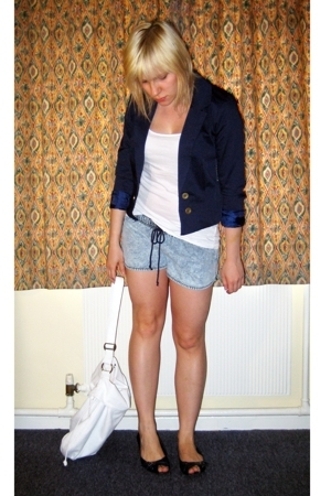 H&amp;M blazer - H&amp;M top - American Apparel shorts - Office shoes - Dorothy Perkins 