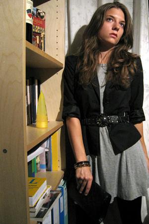 dress - H&M blazer - Zara belt - asos shoes