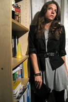 dress - H&M blazer - Zara belt - asos shoes