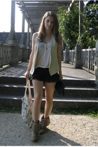 Zara vest - from Sydney shorts - Zara boots - H&M top - H&M accessories - BikBok