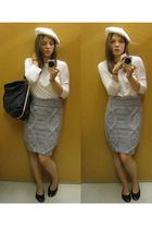 top - H&M Trend skirt - H&M hat - ShopLushcom purse