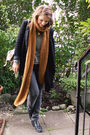 Black-h-m-trend-blazer-gold-zara-scarf-black-local-shop-shoes-silver-from-