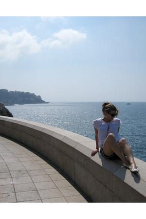 blouse - H&M shorts - H&M shoes - rayban sunglasses