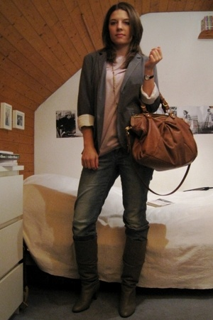 Zara t-shirt - blazer - H&M jeans - Zara shoes - from australia accessories