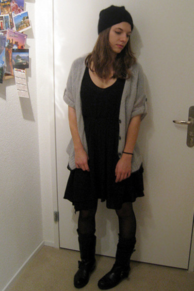 Zara dress - AMERICAN VINTAGE top - vagabond shoes - H&M hat