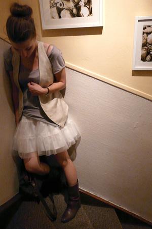 Zara vest - H&M t-shirt - H&M Kids skirt - purse