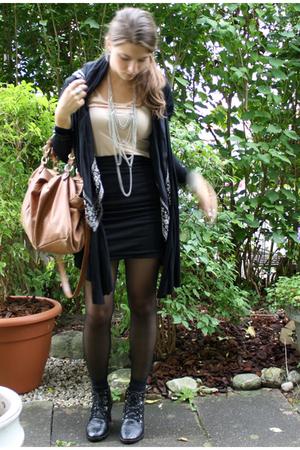 H&M skirt - Zara vest - Ebay shoes - ShopLushcom accessories - H&M necklace - Un