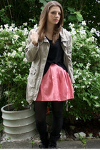 coat - Vero Moda top - GINA TRICOT skirt - vagabond shoes