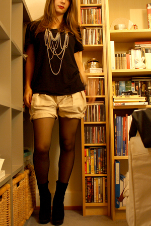 t-shirt - Zara shorts - Zara shoes - H&M necklace