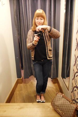 wool Primark cardigan - denim Topshop jeans